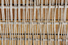 Wooden boards with ship rope Stock Images
