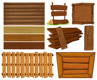 Wooden boards and sign Royalty Free Stock Images