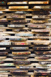Wooden boards stacked Stock Photo