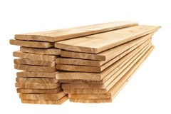 Wooden boards stacked Royalty Free Stock Photo