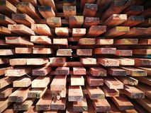 Wooden boards stock for dried  Stock Images