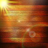 Wooden boards with sun light. plus EPS10 Royalty Free Stock Photography