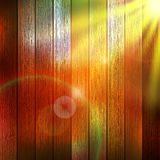 Wooden boards with sun light. plus EPS10 Stock Image