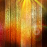 Wooden boards with sun light. plus EPS10 Royalty Free Stock Image