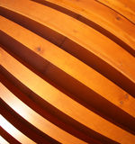 Wooden boards wall with wide angle fisheye view. Red wall made of wooden boards with wide angle fisheye lens view royalty free stock image