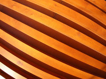 Wooden boards wall with wide angle fisheye view Royalty Free Stock Photography