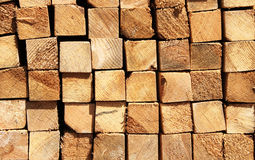 Wooden boards in a warehouse Royalty Free Stock Image