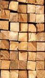 Wooden boards in a warehouse Royalty Free Stock Images