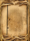 Wooden boards and wheat ears Royalty Free Stock Image