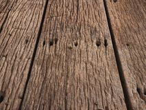 Perspective view at wooden boardwalk. Wooden boardwalk background texture material perspective, wallpaper pattern for copy or text royalty free stock image