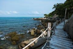 Wooden Boardwalk at Haad Rin, Koh Pha Ngan Royalty Free Stock Photos