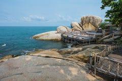 Wooden Boardwalk at Haad Rin, Koh Pha Ngan Stock Photography