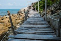 Wooden Boardwalk at Haad Rin, Koh Pha Ngan Stock Images