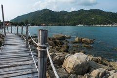 Wooden Boardwalk at Haad Rin, Koh Pha Ngan. Thailand Stock Photography