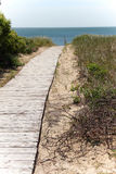 Wooden boardwalk Royalty Free Stock Images