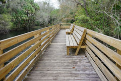 A wooden boardwalk Royalty Free Stock Photos