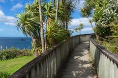 Wooden boardwalk to the beach Stock Photos