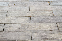 Wooden boardwalk. Weathered and rough textured Royalty Free Stock Photos