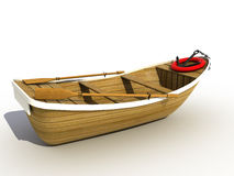 The wooden boat. �2 Royalty Free Stock Images
