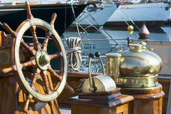 Wooden boat Stock Images
