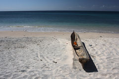 Wooden boat. Tradisional wooden boat on the beach at pemba Stock Image