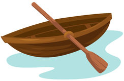 Wooden boat royalty free illustration