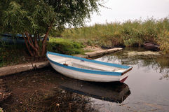Wooden boat. And fishing trips Stock Images