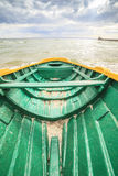 Wooden boat on The Baltic shore Royalty Free Stock Photos
