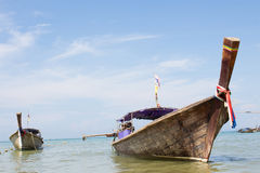 Wooden boat on the beach Stock Photo
