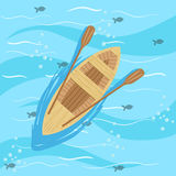 Wooden Boat With Blue Sea Water On Background Royalty Free Stock Photography
