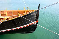 Wooden boat bow Royalty Free Stock Photos