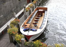 Wooden boat in Brugge Royalty Free Stock Photography