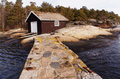 Wooden boat building, Norway Stock Image