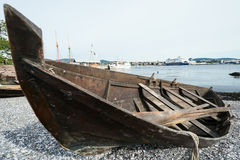 Wooden boat close up Stock Photography
