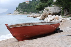 Wooden boat, Croatia Royalty Free Stock Images