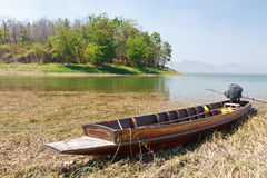 Wooden boat in a cypress swamp Royalty Free Stock Photos