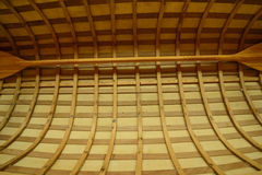 Wooden boat detail of a beautiful craftmanship Royalty Free Stock Photos