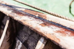 Wooden boat detail Royalty Free Stock Photos