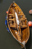 Wooden boat. In harbour Royalty Free Stock Photography