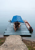 Wooden boat house Stock Photography