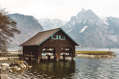 Wooden boat house Royalty Free Stock Image