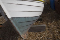 Wooden boat hull Stock Images