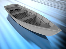 Wooden boat illustration Royalty Free Stock Image
