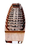 Wooden boat isolated Royalty Free Stock Images