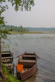Wooden boat on the lake. Stock Image