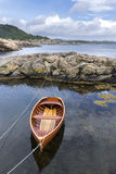 wooden boat in Norway Royalty Free Stock Photo