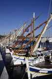 Wooden boat Pointus in Bandol Royalty Free Stock Images