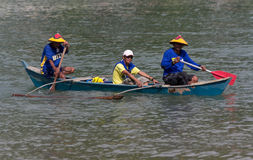 Wooden boat race Royalty Free Stock Images