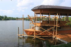 Wooden boat repair Royalty Free Stock Images