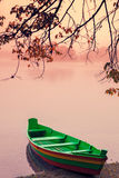 Wooden boat on the river bank Royalty Free Stock Image